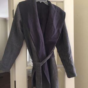 Jackets & Blazers - Woman's Reversible Wool Blend Wrap Coat S/M